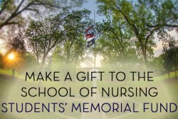 make a gift to the school of nursing students' memorial fund