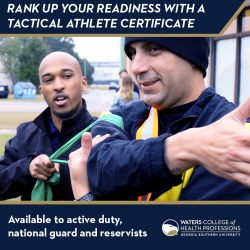 rank up your readiness with a tactical athlete certificate available to active duty, national guard and reservists